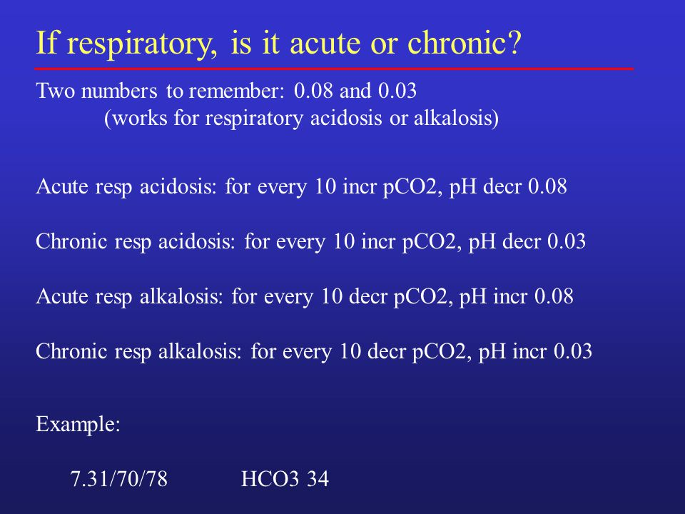 If respiratory, is it acute or chronic.