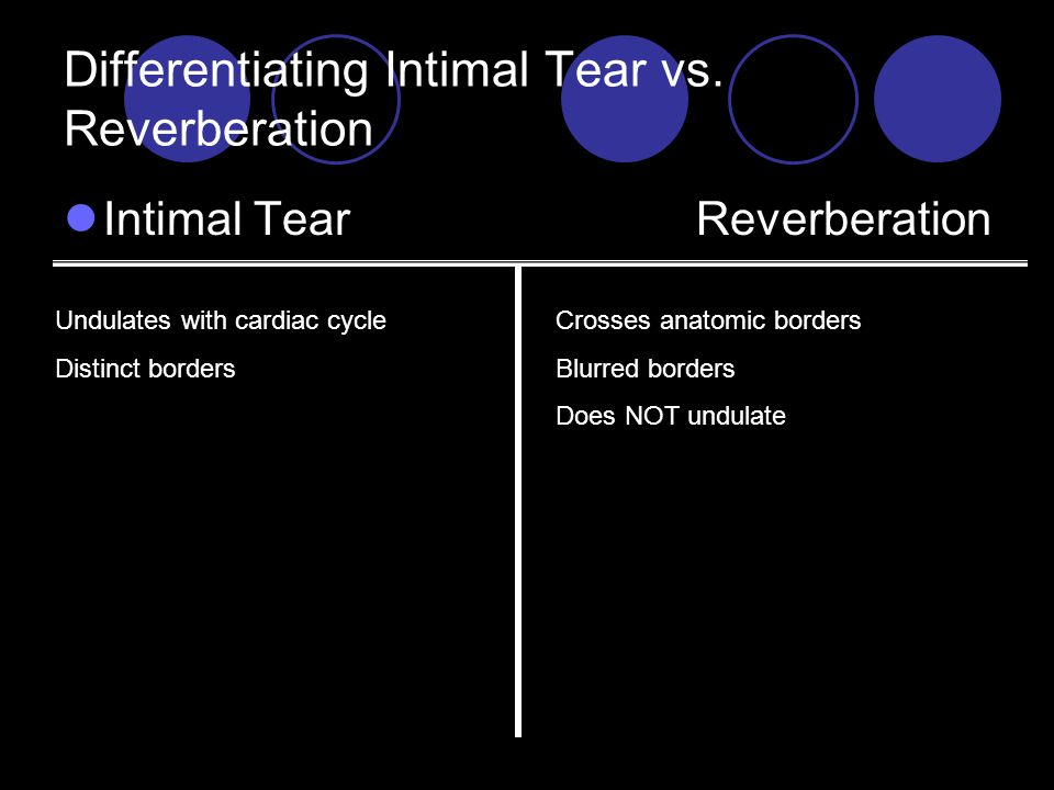 Differentiating Intimal Tear vs.