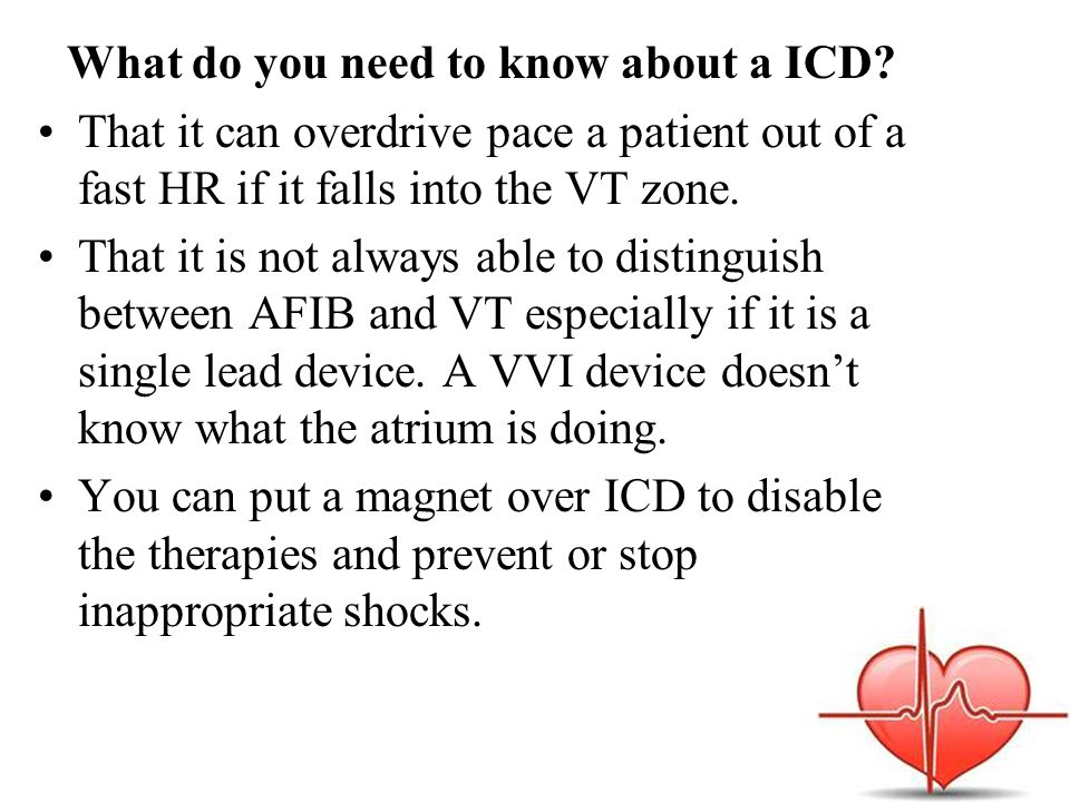 What do you need to know about a ICD.