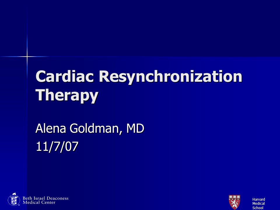 Harvard Medical School Imaging Measures of Mechanical Dyssynchrony: 20-30% of patients with evidence of electrical dyssynchrony do not benefit from CRT regardless of baseline QRS duration and QRS narrowing with CRT 20-30% of patients with evidence of electrical dyssynchrony do not benefit from CRT regardless of baseline QRS duration and QRS narrowing with CRT Imaging allows direct visualization of mechanical dyssynchrony Imaging allows direct visualization of mechanical dyssynchrony