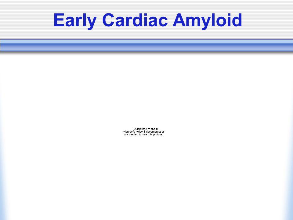 Early Cardiac Amyloid