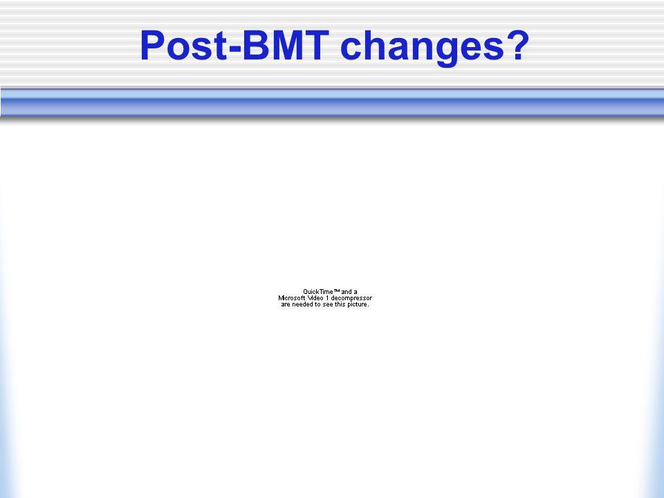 Post-BMT changes?