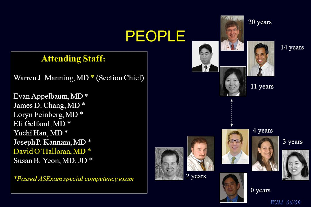 WJM 06/09 Thank YOU.Attending Staff : Evan Appelbaum, MD James D.