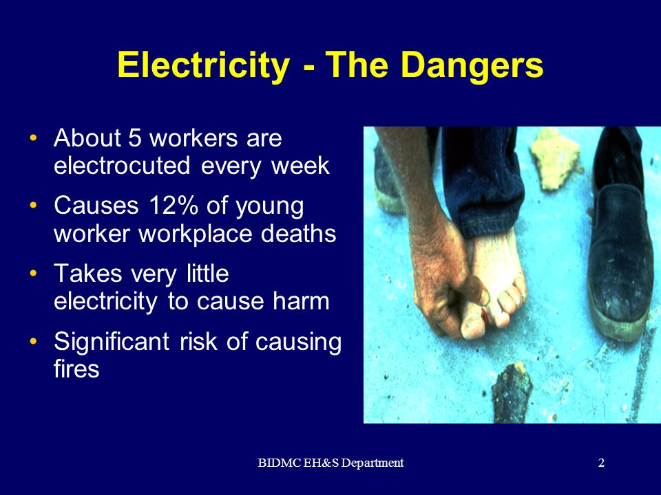 BIDMC EH&S Department3 Safety Requirements for Electricians video (Click on box to play video)