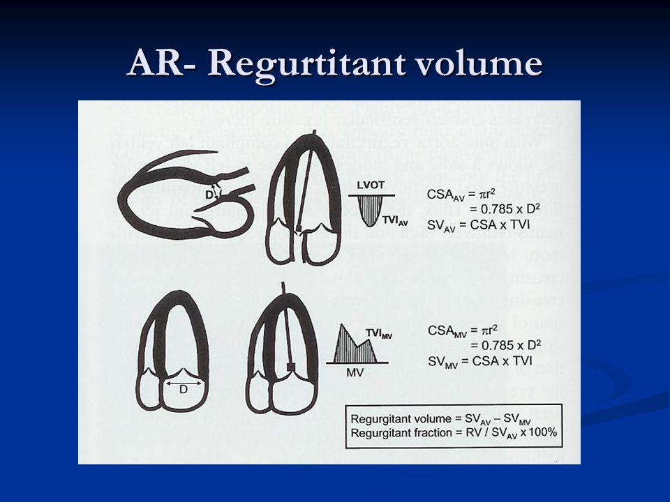 AR- Regurtitant volume