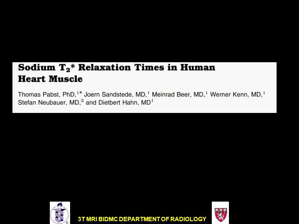 3T MRI BIDMC DEPARTMENT OF RADIOLOGY