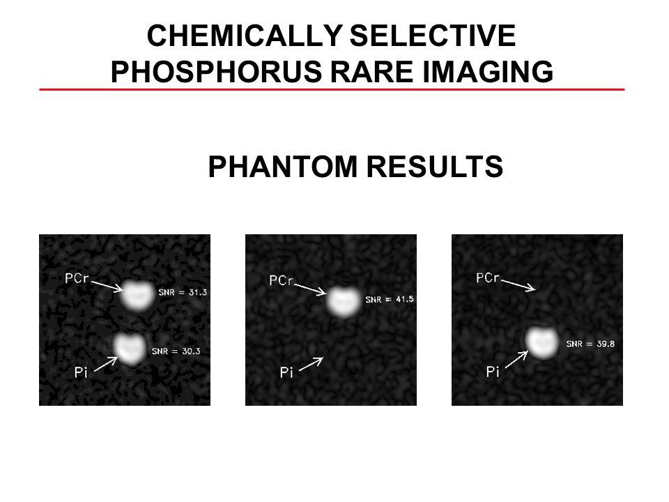 CHEMICALLY SELECTIVE PHOSPHORUS RARE IMAGING PHANTOM RESULTS