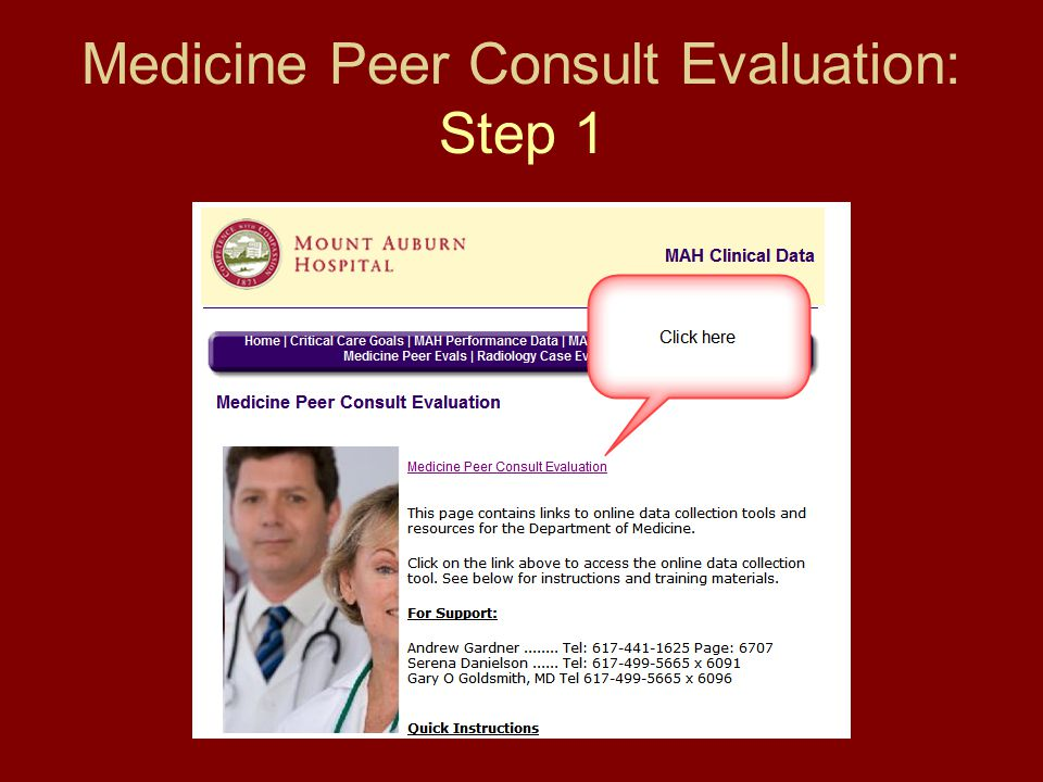 Medicine Peer Consult Evaluation: Step 1