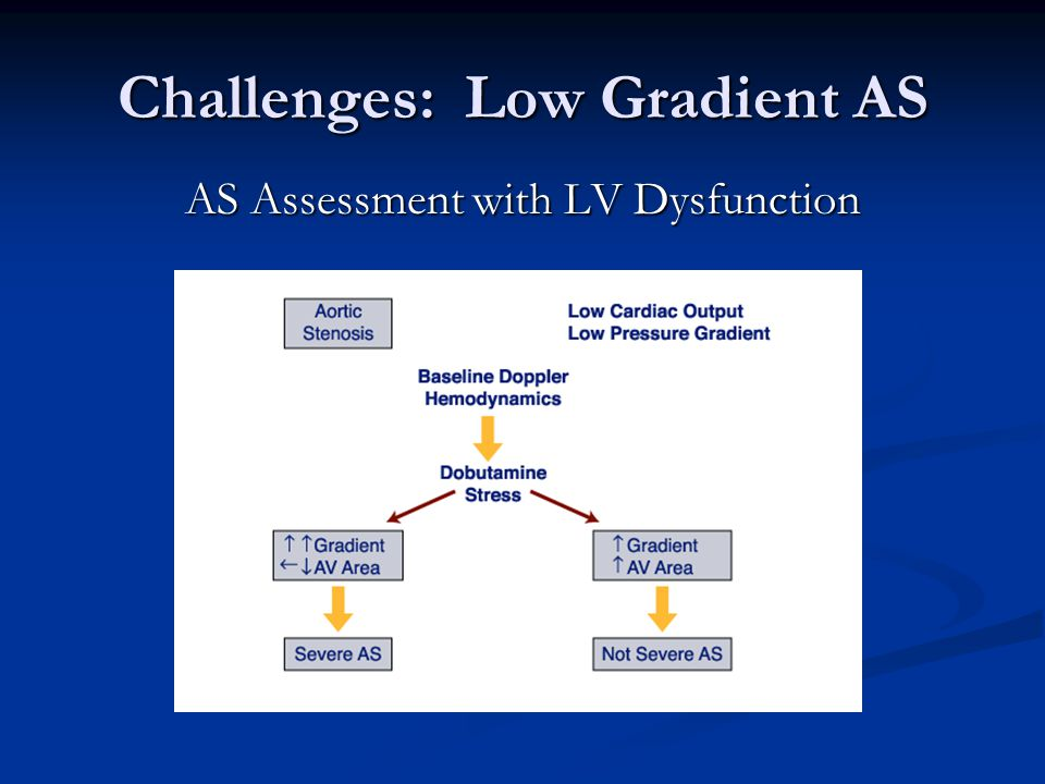 Challenges: Low Gradient AS AS Assessment with LV Dysfunction