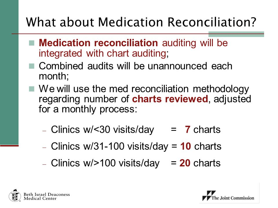 What about Medication Reconciliation.