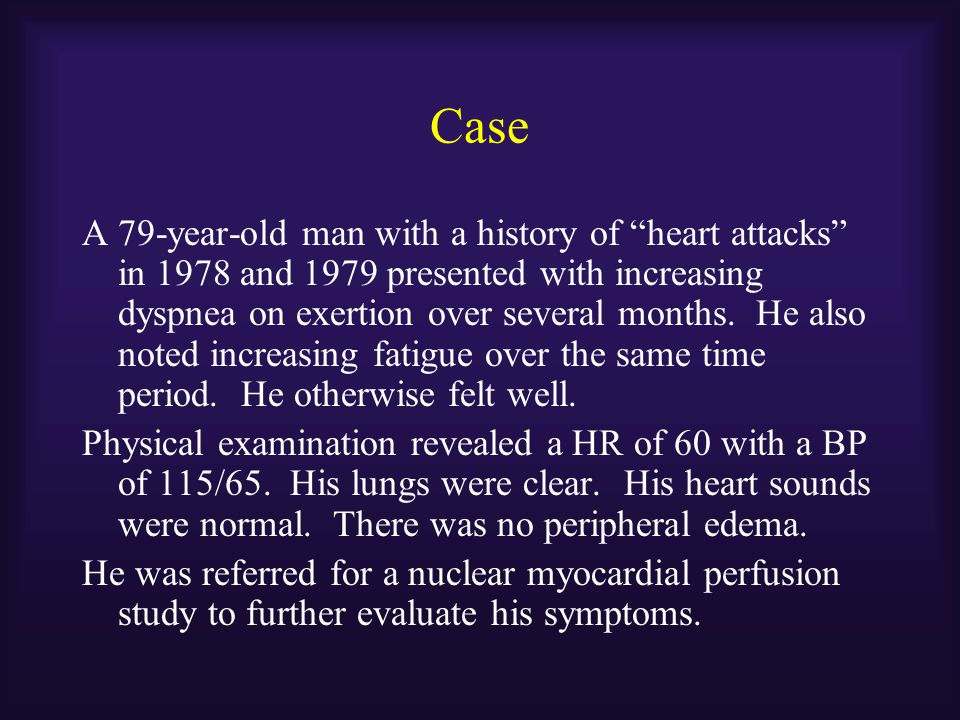 Case The patient was referred for CMR.
