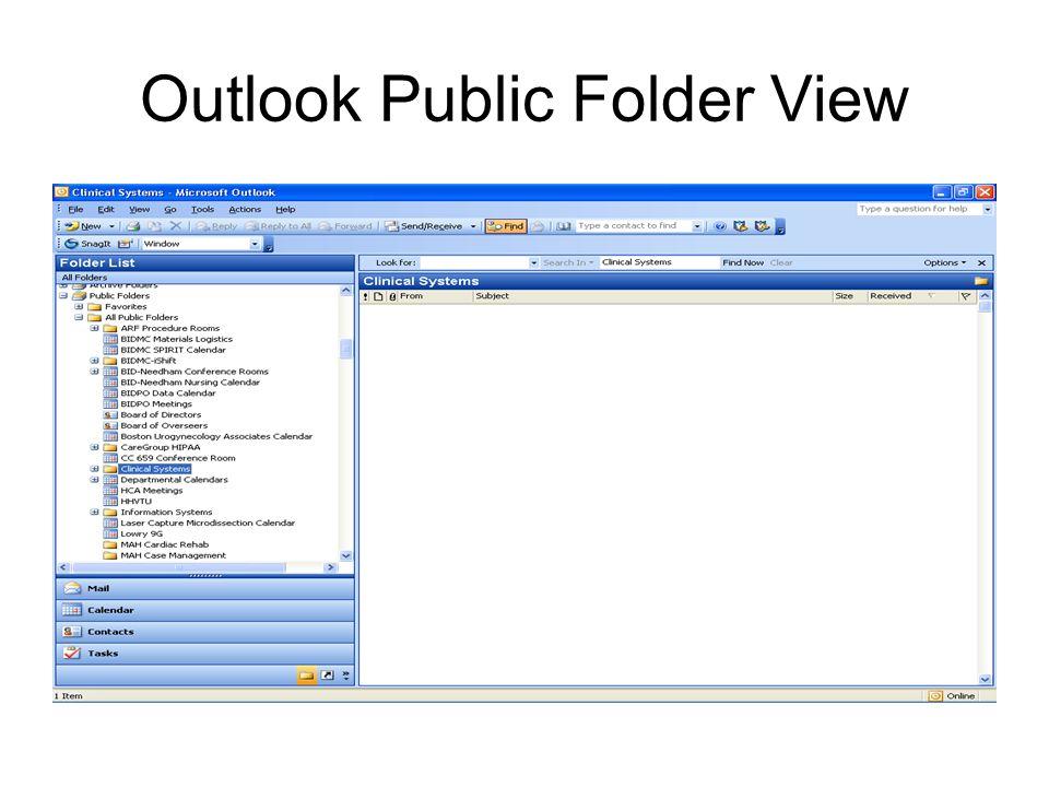 Outlook Public Folder View
