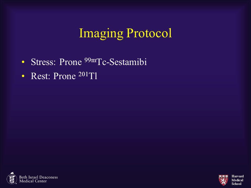 Harvard Medical School Imaging Protocol Stress: Prone 99m Tc-Sestamibi Rest: Prone 201 Tl