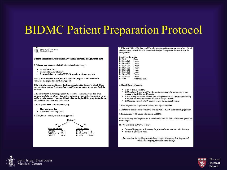 Harvard Medical School BIDMC Patient Preparation Protocol