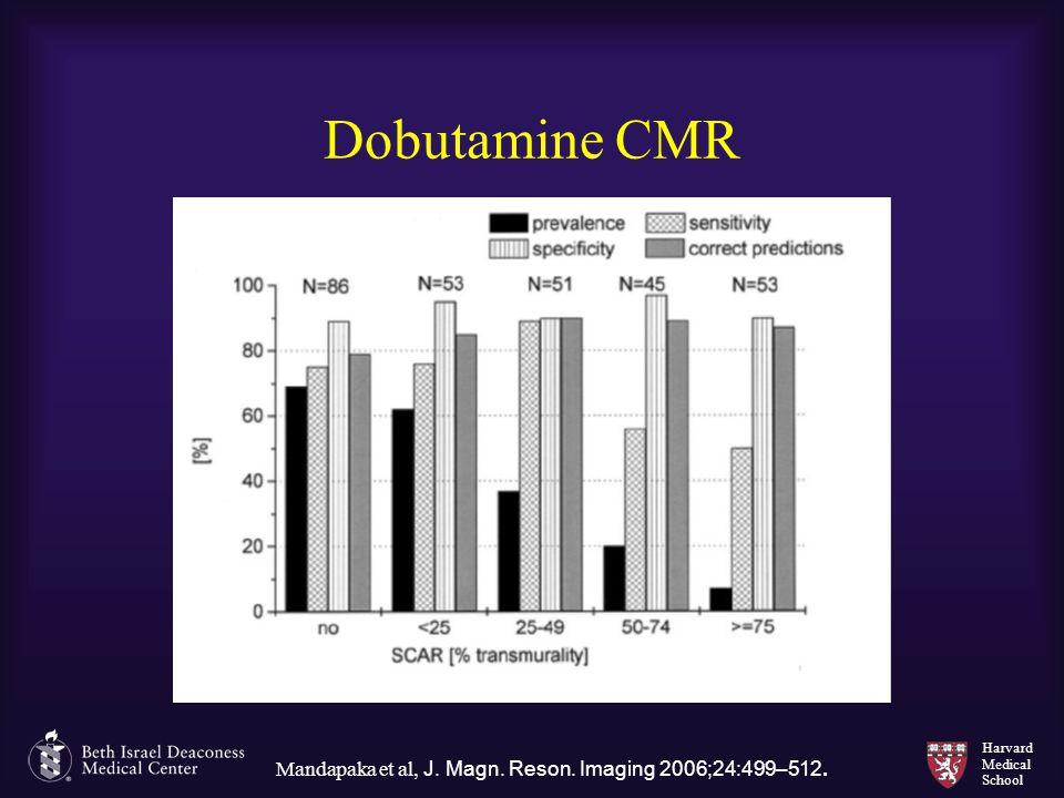 Harvard Medical School Dobutamine CMR Mandapaka et al, J. Magn. Reson. Imaging 2006;24:499–512.