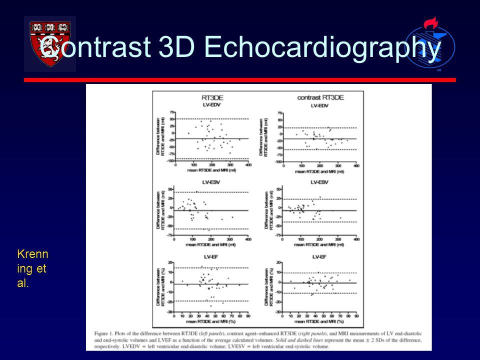Contrast 3D Echocardiography Krenn ing et al.