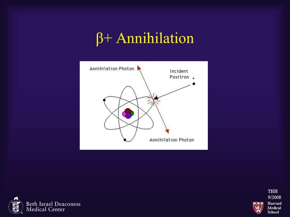 Harvard Medical School THH 9/2008 β+ Annihilation