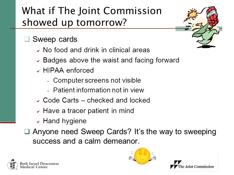 What if The Joint Commission showed up tomorrow.