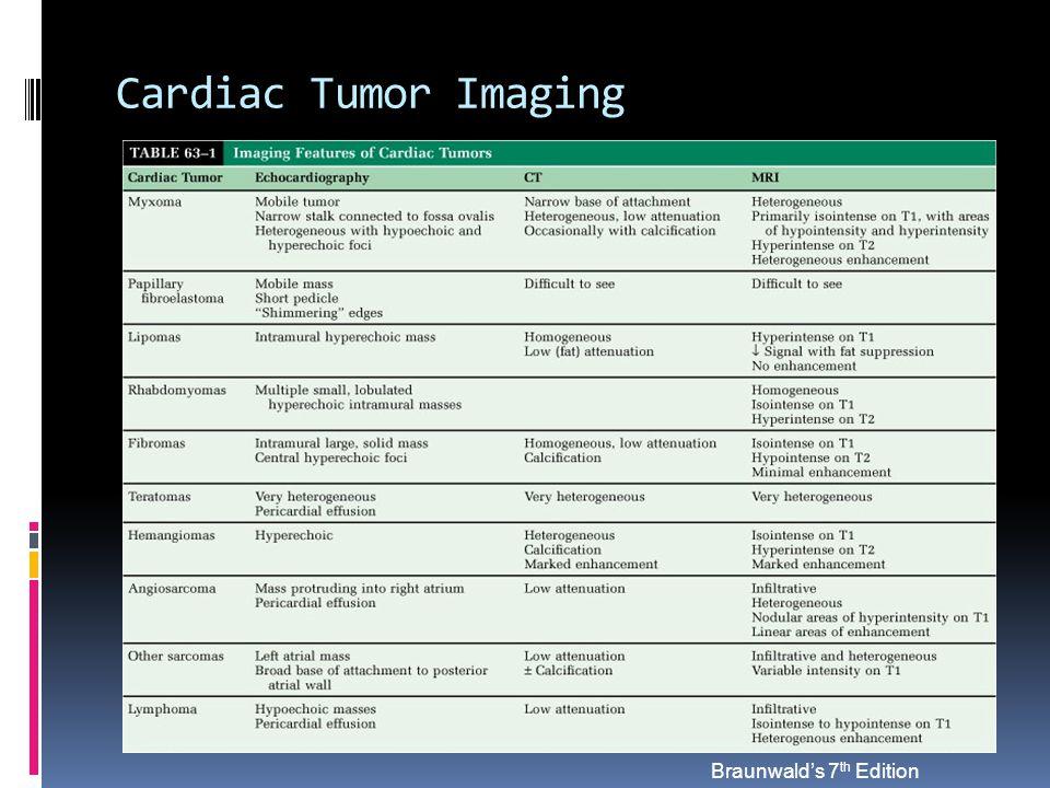 Cardiac Tumor Imaging Braunwald's 7 th Edition