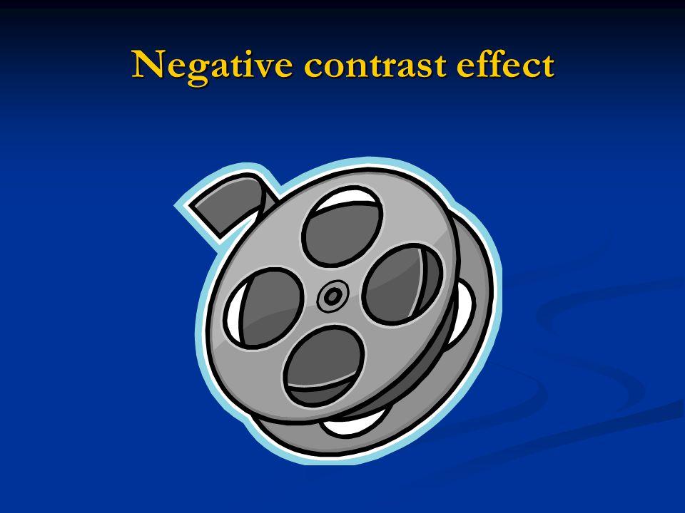 Negative contrast effect