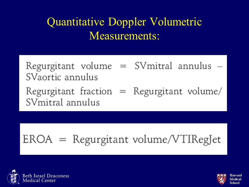 Harvard Medical School Quantitative Doppler Volumetric Measurements: