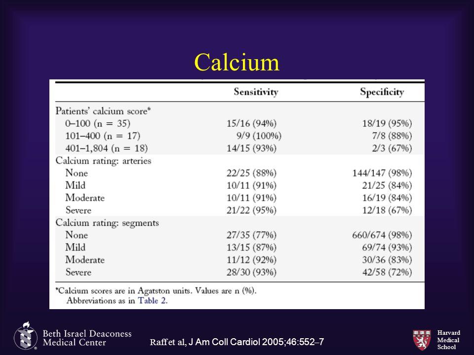 Harvard Medical School Calcium Raff et al, J Am Coll Cardiol 2005;46:552 – 7