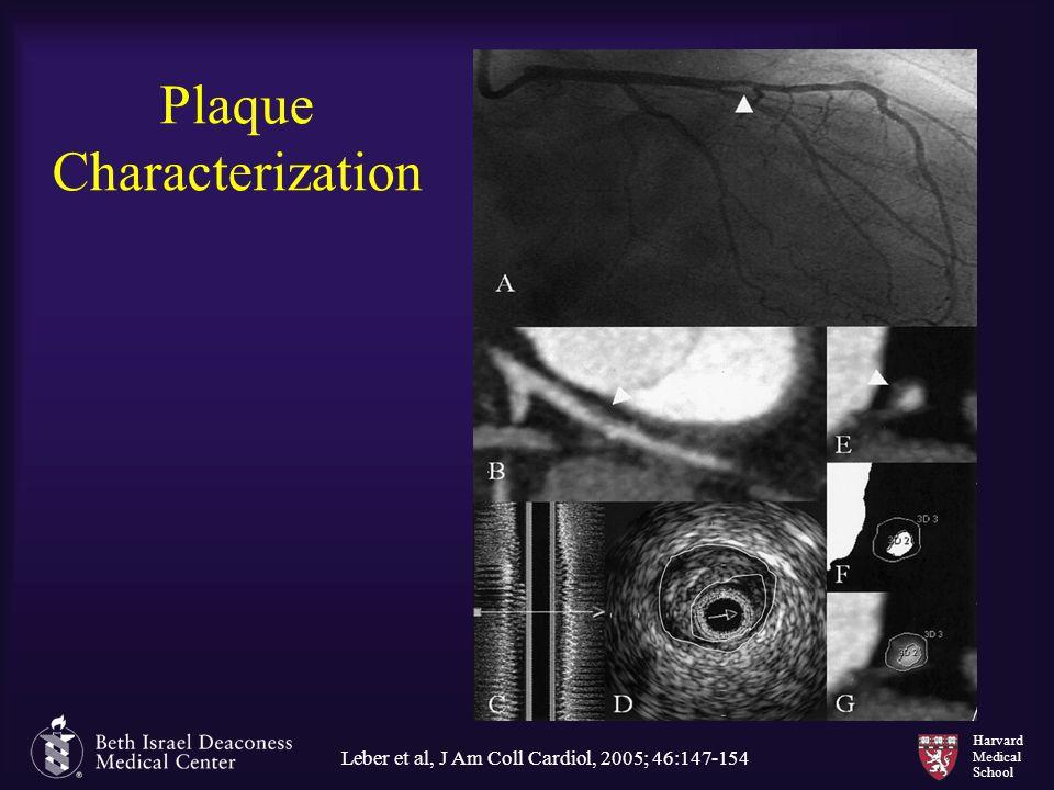 Harvard Medical School Plaque Characterization Leber et al, J Am Coll Cardiol, 2005; 46:147-154