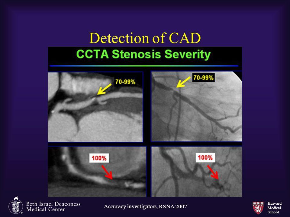 Harvard Medical School Detection of CAD Accuracy investigators, RSNA 2007