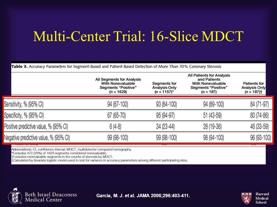 Harvard Medical School Multi-Center Trial: 16-Slice MDCT Garcia, M. J. et al. JAMA 2006;296:403-411.