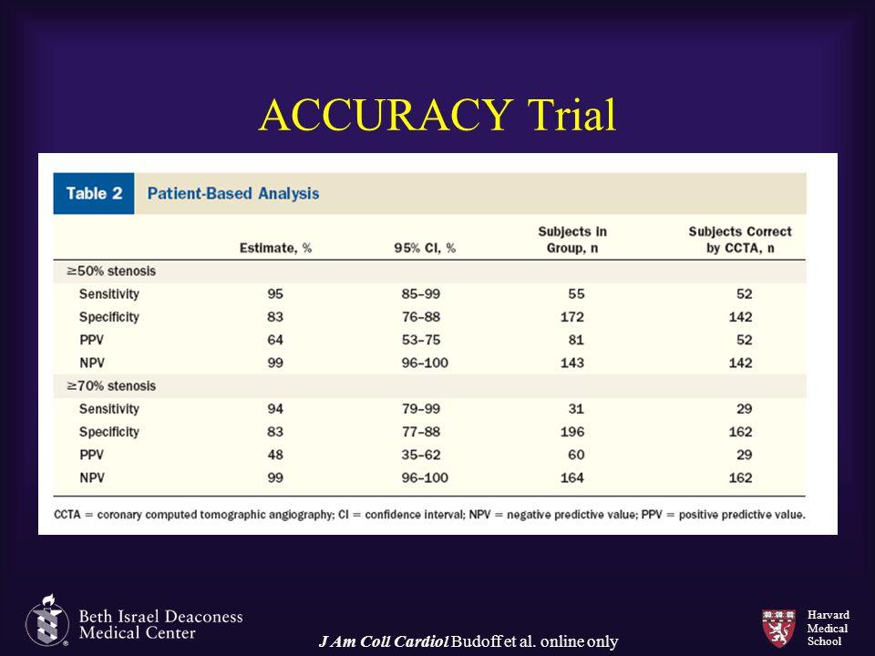 Harvard Medical School ACCURACY Trial J Am Coll Cardiol Budoff et al. online only