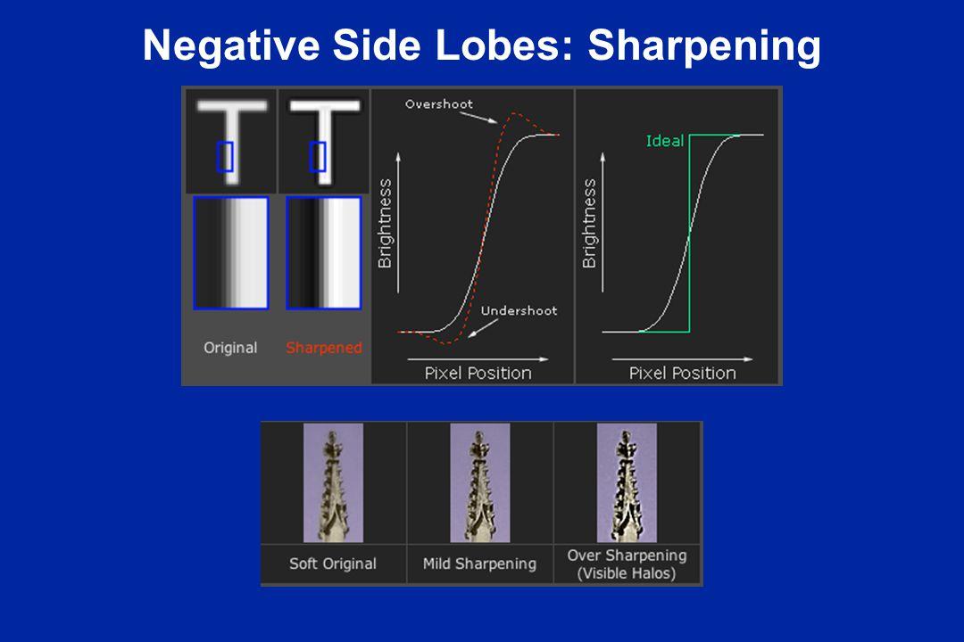 Negative Side Lobes: Sharpening