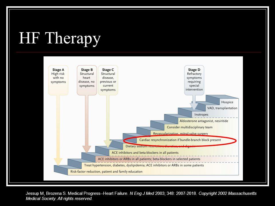 HF Therapy Jessup M, Brozena S. Medical Progress--Heart Failure.