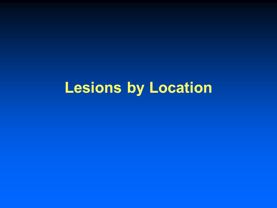 Lesions by Location