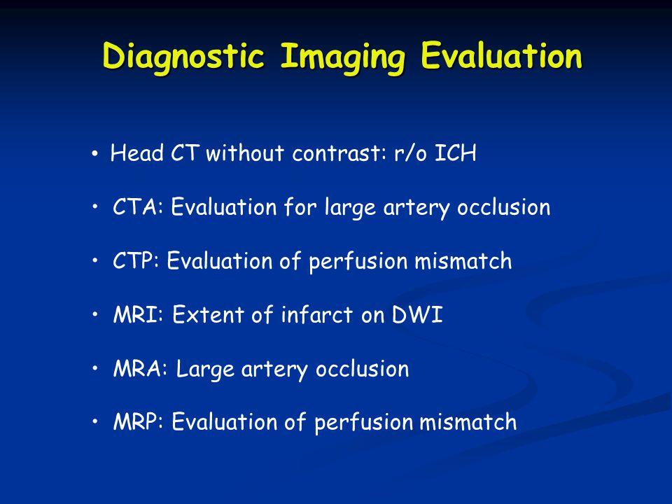 CBV Cerebral Blood Volume MTT Mean Transit Time Perfusion Mismatch Penumbra =Tissue at Risk
