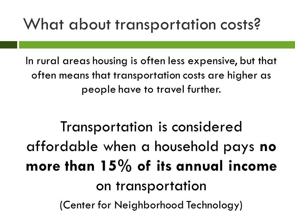 Regional Housing Affordability