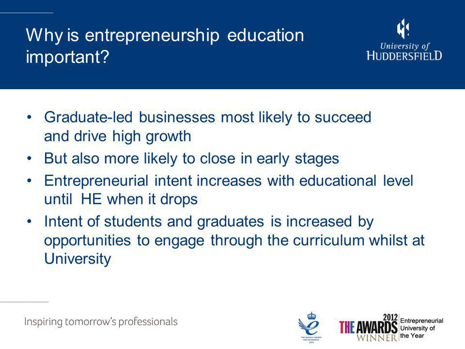 Why is entrepreneurship education important.