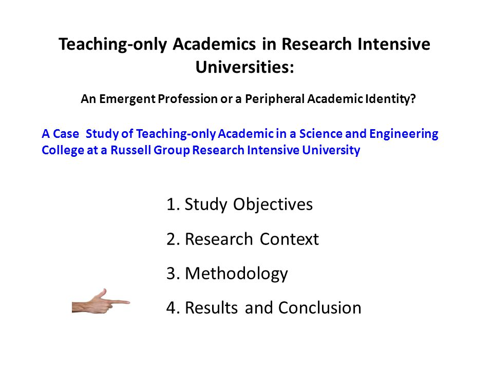 Teaching-only Academics in Research Intensive Universities: An Emergent Profession or a Peripheral Academic Identity? A Case Study of Teaching-only Ac