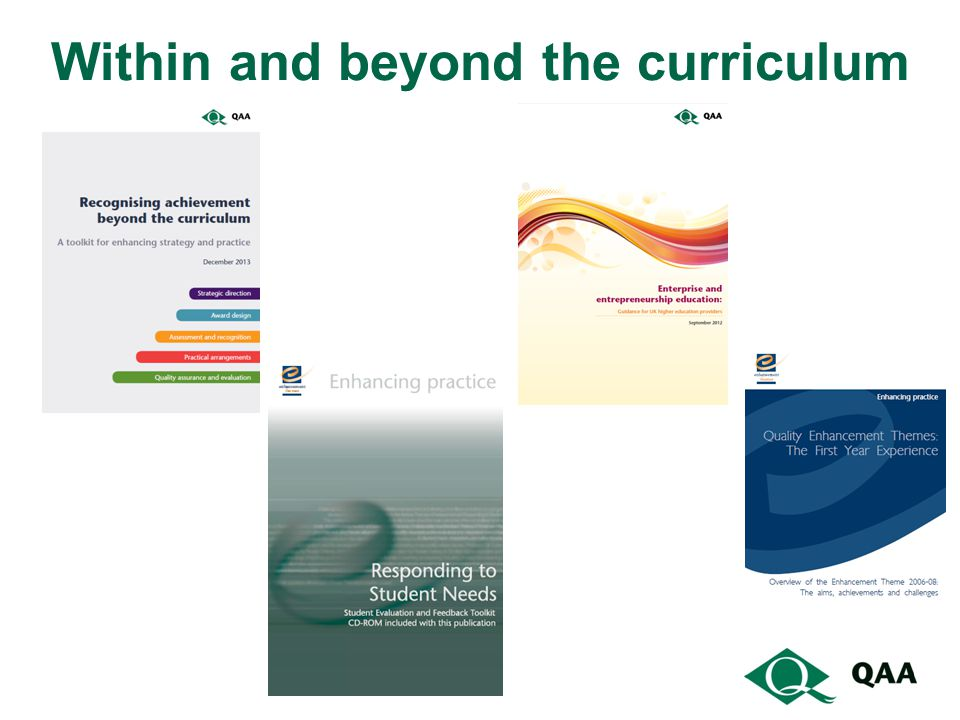 Within and beyond the curriculum