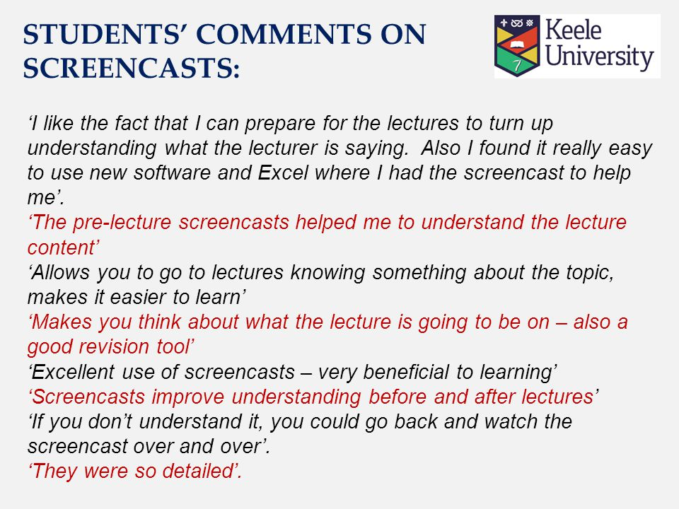 'I like the fact that I can prepare for the lectures to turn up understanding what the lecturer is saying.