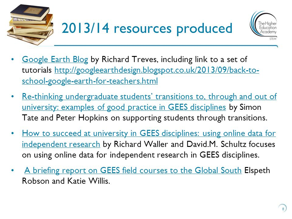 Google Earth Blog by Richard Treves, including link to a set of tutorials http://googleearthdesign.blogspot.co.uk/2013/09/back-to- school-google-earth