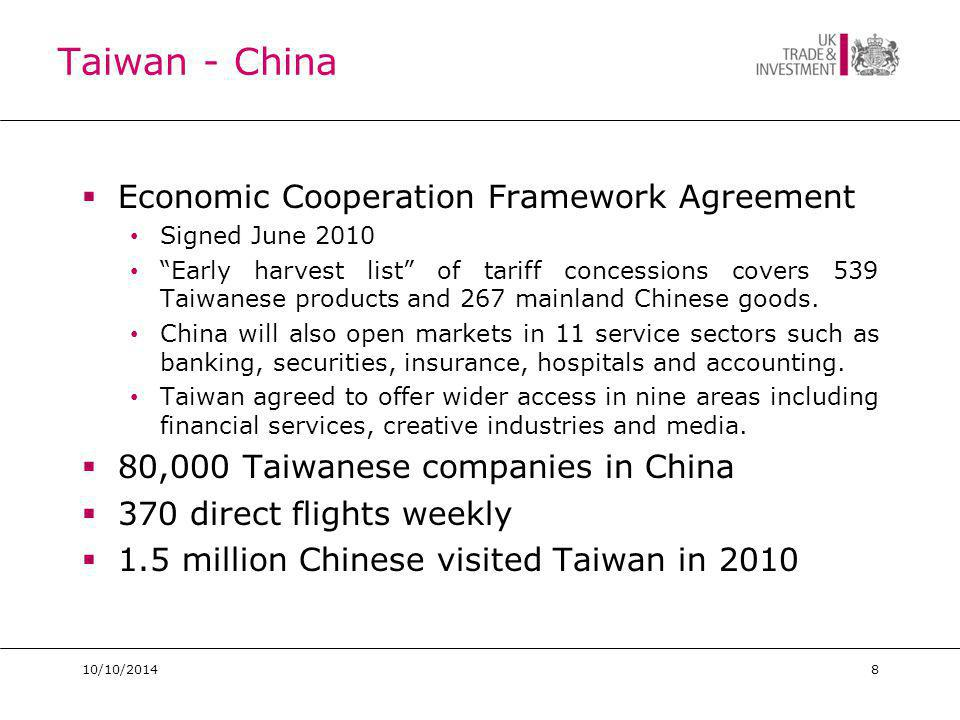 Next Steps Prepare Research Visit Taiwan Identify and introduce you business partners and contacts Meet us – knowledge, briefing, access Network Build relations Win business Participate Renewable Energy mission visiting UK.