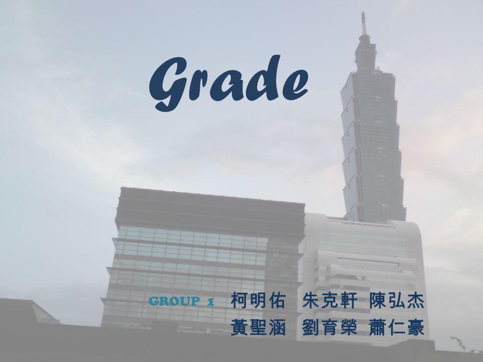 Grade 柯明佑 朱克軒 陳弘杰 黃聖涵 劉育榮 蕭仁豪 GROUP 1