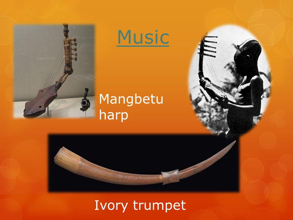 Music Ivory trumpet Mangbetu harp