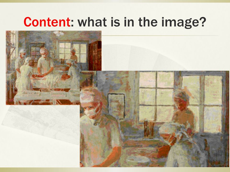 Content: what story does the painting tell?.