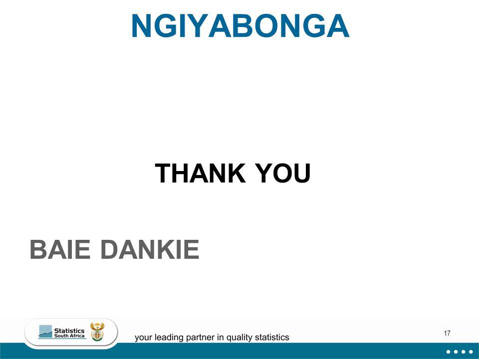 17 NGIYABONGA THANK YOU BAIE DANKIE