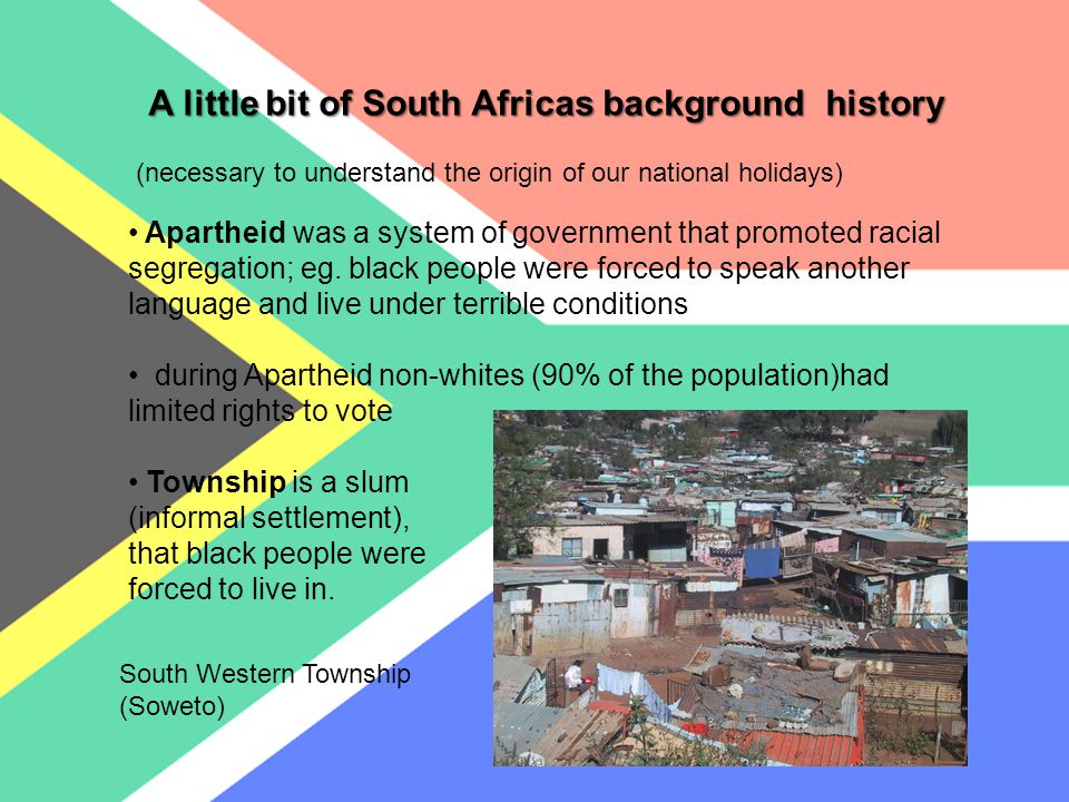 Freedom D ay… …is a day when we South Africans commemorate the first post-apartheid democratic elections held on 27 th April 1994 Why do we celebrate it on this day .