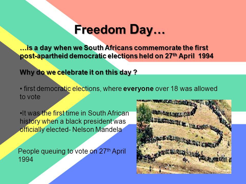 How do we celebrate Freedom Day.