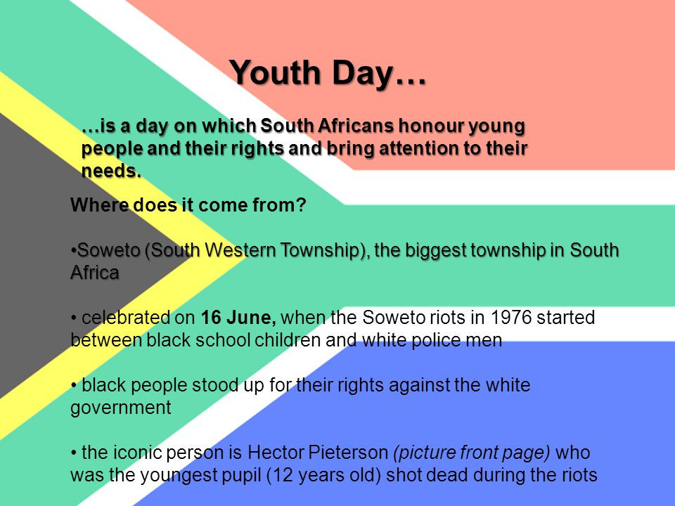 Youth Day… Where does it come from.