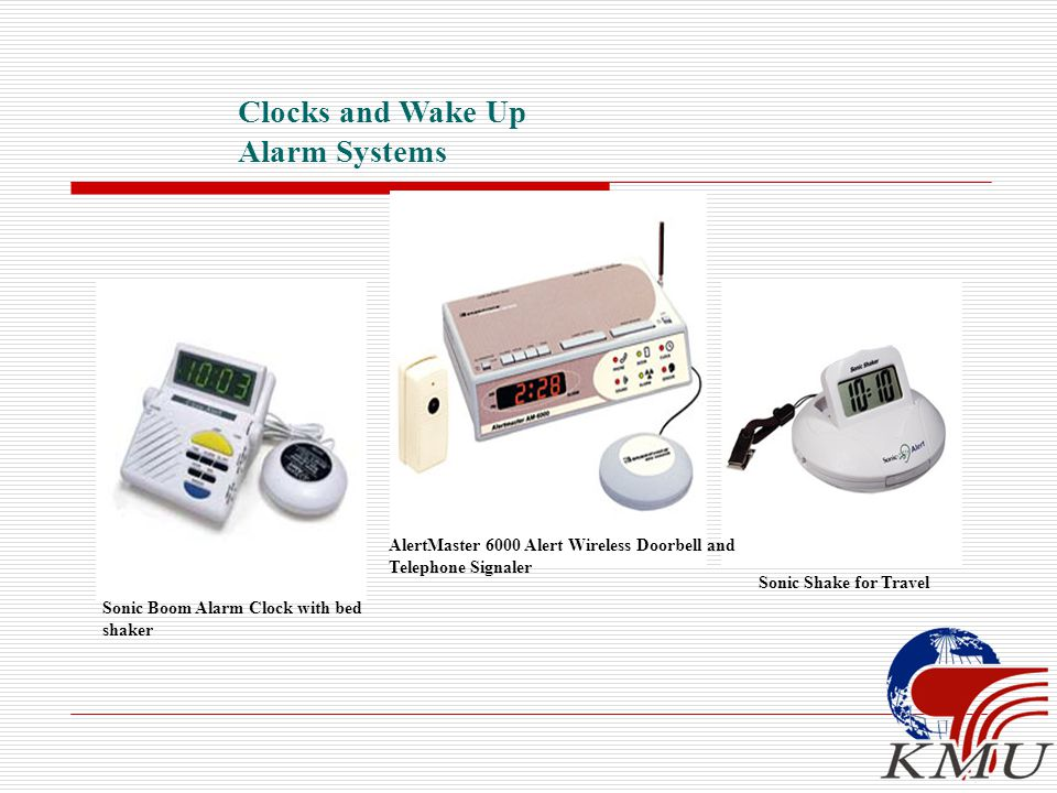 Clocks and Wake Up Alarm Systems Sonic Shake for Travel Sonic Boom Alarm Clock with bed shaker AlertMaster 6000 Alert Wireless Doorbell and Telephone