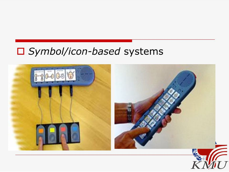  Symbol/icon-based systems